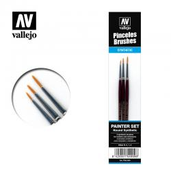 Vallejo Set de Pinceles P54.999 Toray 0, 1, 2