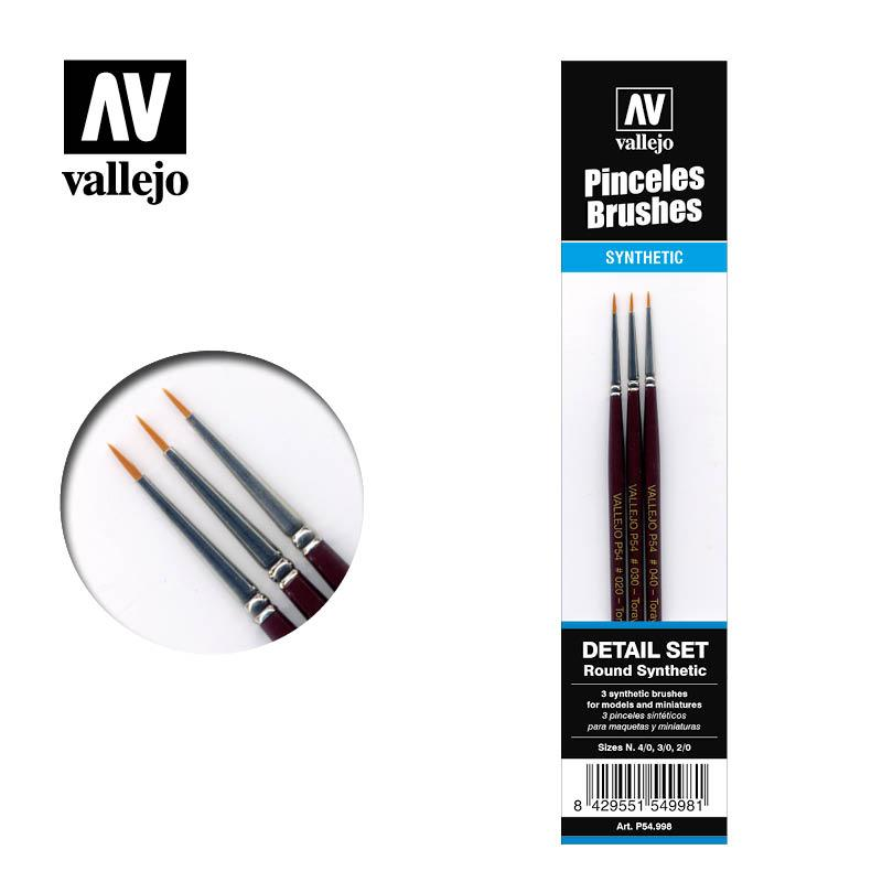 Vallejo Set de Pinceles P54.998 Toray 4/0, 3/0, 2/0